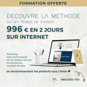 formation gratuite affiliation pour gagner 100 euros par jour